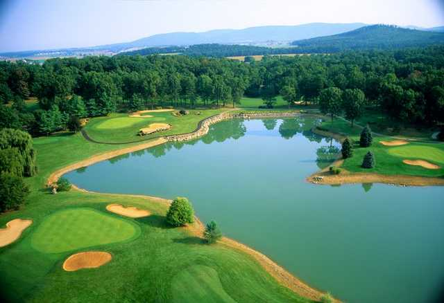 Aerial view from Founders Course at Penn National Golf Club & Inn