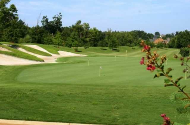 A view of the practice puting green with bunkers on the left (courtesy of Lindsey Management)