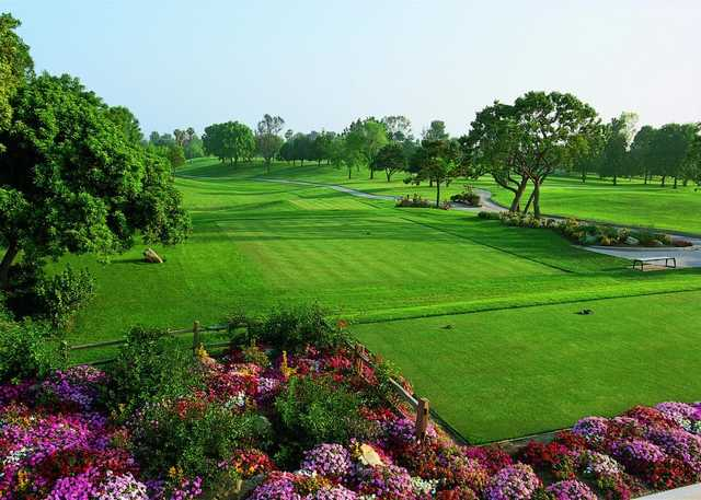 A view from tee #1 at Valley Course from Los Coyotes Country Club