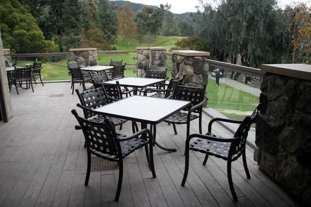 A view from the clubhouse terrace at DeBell Golf Course.