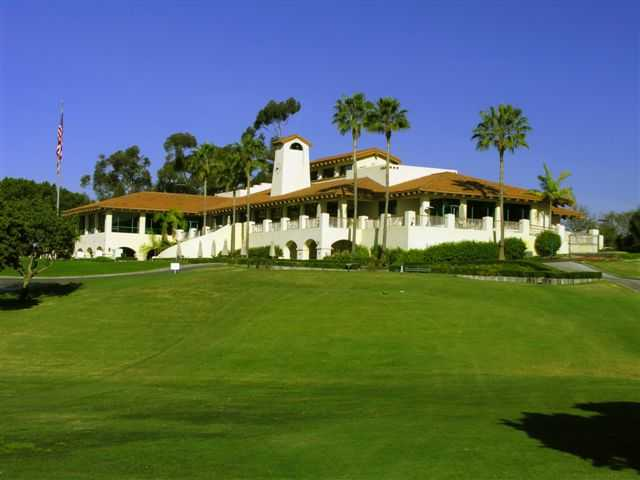 A view of the clubhouse at San Diego Country Club