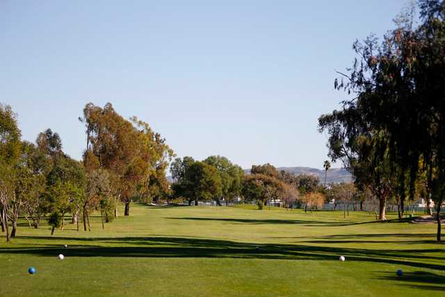A view from tee at Costa Mesa Golf & Country Club.