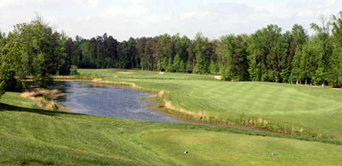 A view of hole #5 at Broad Run Golf & Practice Facility