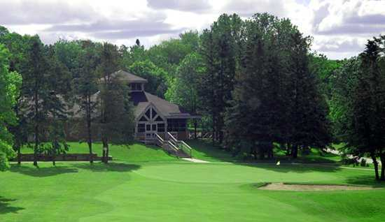 A view of the clubhouse at Uplands Golf & Ski Club.