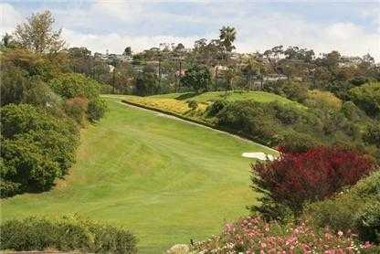 A view of fairway #18 at La Jolla Country Club