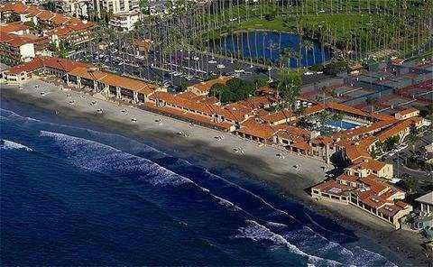 Aerial view from La Jolla Beach & Tennis Club