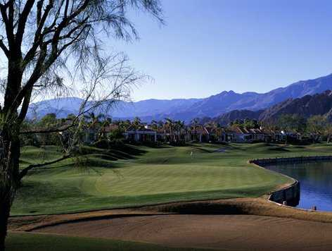 A view of the 18th hole at La Quinta Resort Citrus Course (Evan Schiller)