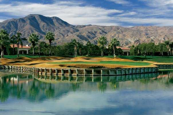 A view of the 8th green at PGA West Jack Nicklaus Tournament Course