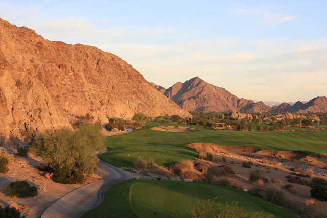 A view from tee #16 surrounded by mountains (courtesy of SilverRock Resort)