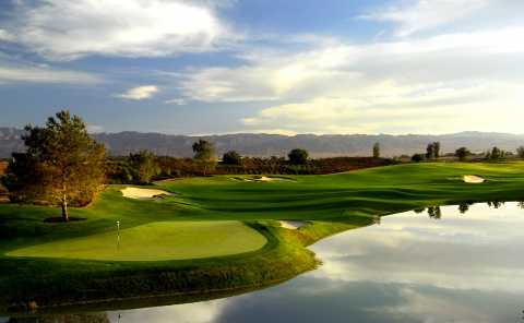 A view of green #16 with water coming into play (courtesy of the Madison Club)