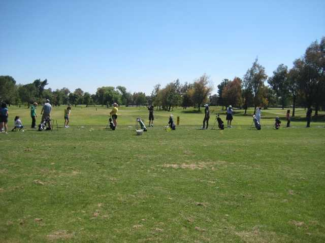A view of the driving range at Lemoore Golf Course