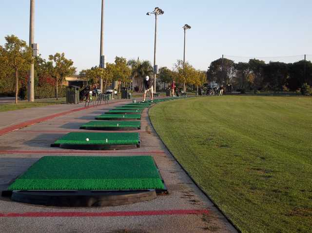 A view of the driving range at Skylinks from Long Beach Golf Course.