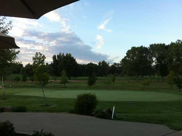 A view from the patio of Club 9 cafe at Indian Creek Country Club