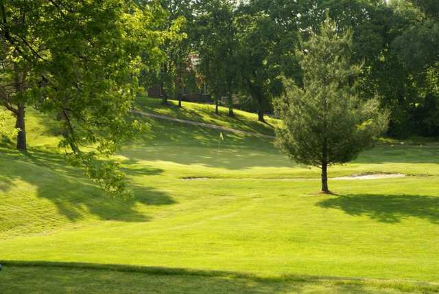 View of a green from Franklin Golf Club.
