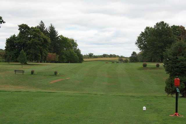 A view from a tee at Wynding Brook Golf Club