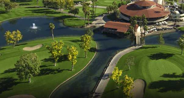 Aerial view of the clubhouse (courtesy of Avondale Golf Club)