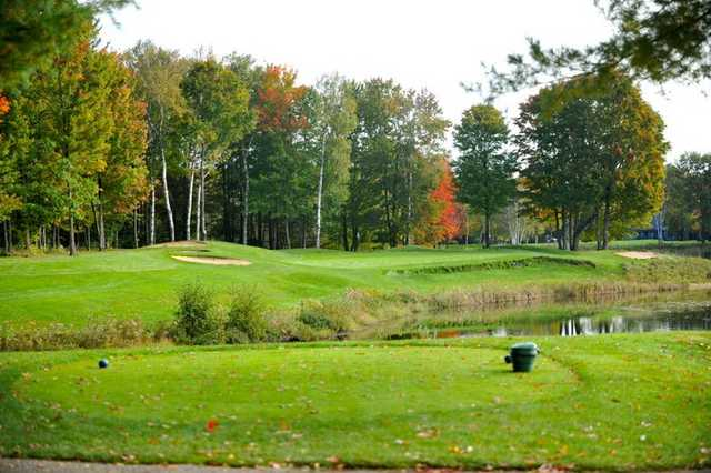 A view from a tee at The Lakes Golf Course.