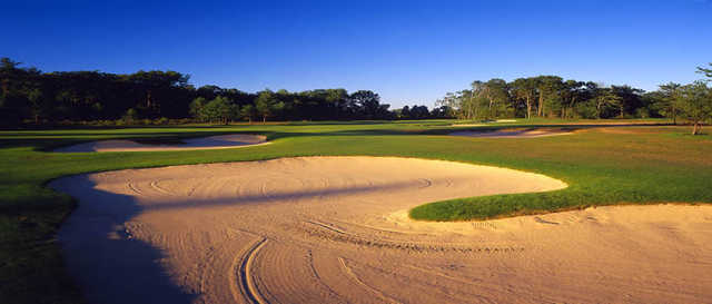 A view of bunkers at Diamond Springs Golf Course