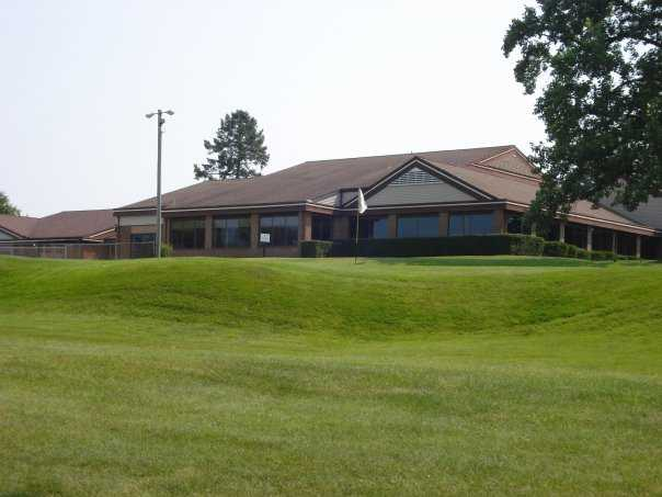 A view of the clubhouse at Arbor Hills Golf Club
