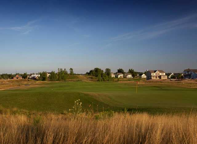 A view of green #3 at Dunes Course from Boulder Pointe Golf Club