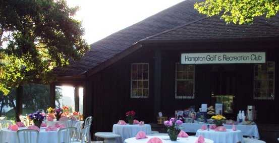 A view of the clubhouse at Hampton Golf Club