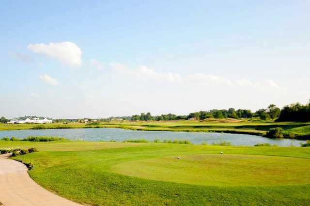 A view from the 9th tee at Southern Dunes Golf Course