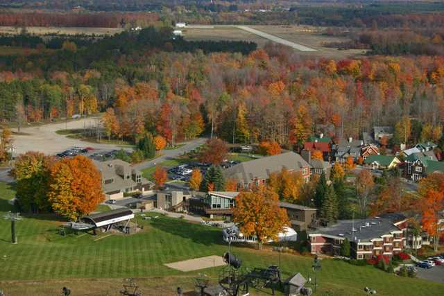 A fall view from Crystal Mountain Resort.
