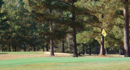 A view of greens at Valley Pine Country Club