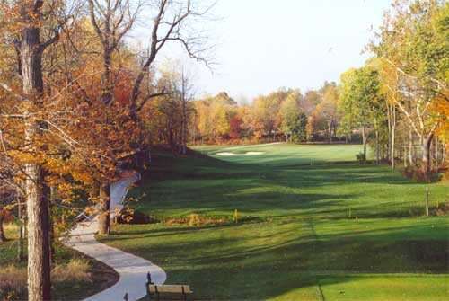 A view from tee #18 at Coyote Crossing Golf Course
