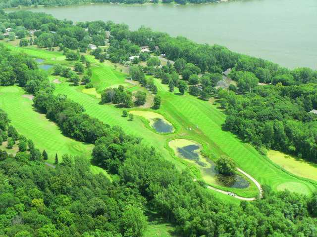 Aerial view from Chomonix Golf Course