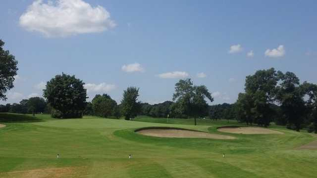 A view of the 17th green at Signature Course from Majestic Oaks Golf Club