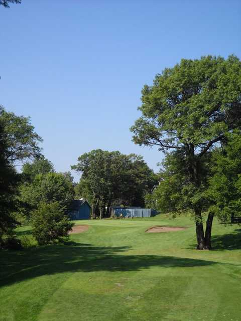 A view of the 9th hole at Executive Course from Majestic Oaks Golf Club