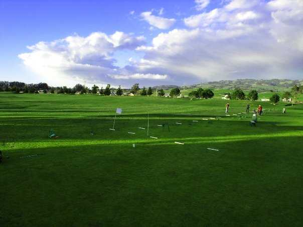 A view of the driving range at Rooster Run Golf Club