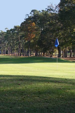 A view of hole #4 at Beachwood Golf Club