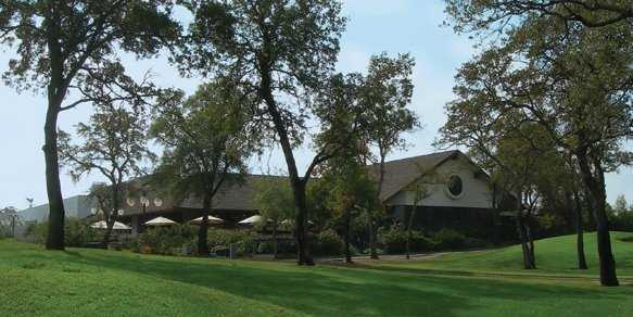 A view of the clubhouse at Rancho Murieta Country Club