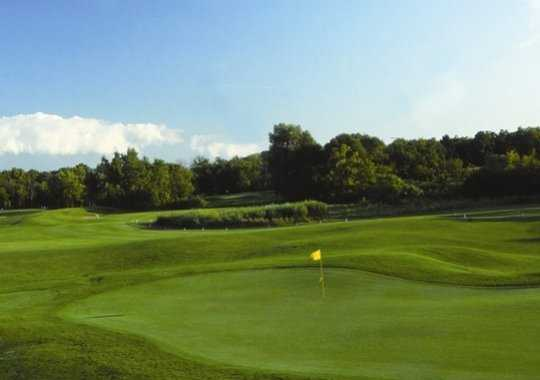 A view of a green at Golden Fox Course from Fox Hills Golf Center