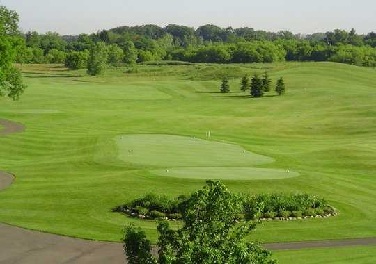A view of a tee at Golden Fox Course from Fox Hills Golf Center