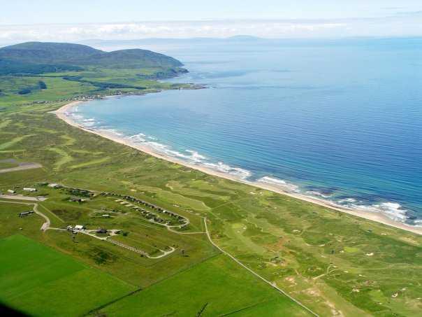 Aerial view of Machrihanish Dunes Golf Club