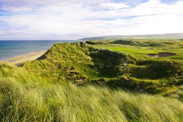 A view of the 4th green par-4 at Machrihanish Dunes Golf Club