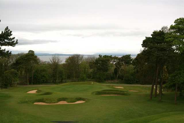 One of Longniddry Golf Club's newer holes, the par-3 sixth hole has a view of the Firth in the distance.