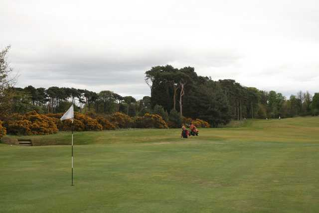 "The par-4 seventh, ""Gorse Ridge"" at Longniddry Golf Club is one of the club's longest."
