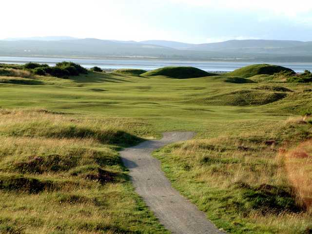 A view of the 11th green at Tain Golf Club.
