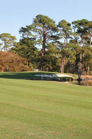 A view from fairway #5 at Beachwood Golf Club