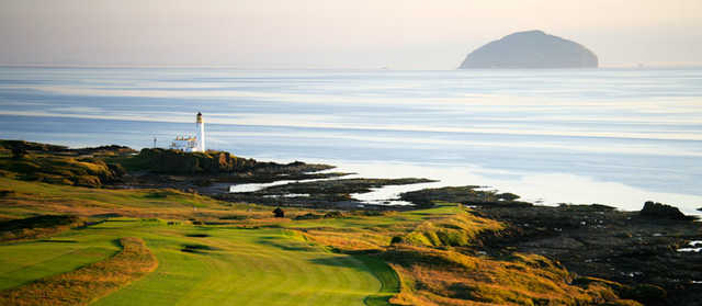 The 9th hole from Trump Turnberry - King Robert the Bruce Course