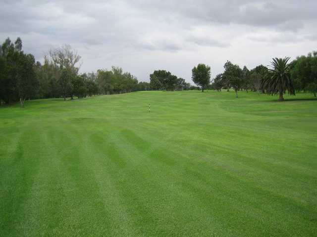 A view of fairway #1 at Paradise Knolls