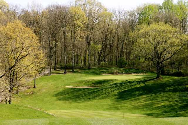 A view of green #5 at Sycamore Course from Eagle Creek Golf Club