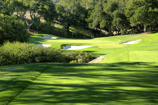 A view of hole #15 at Peninsula Golf & Country Club
