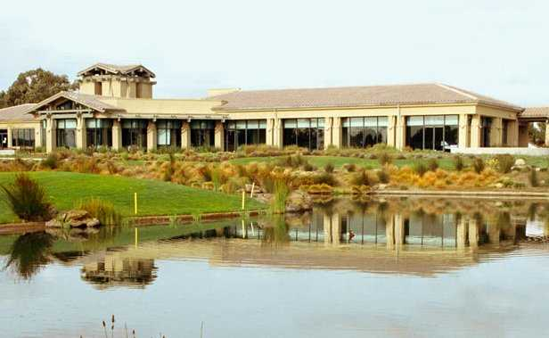A view of the clubhouse at Poplar Creek Golf Course