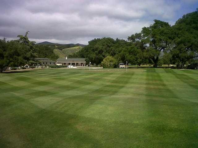 Rancho San Marcos GC: practice area & clubhouse