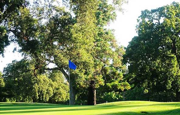A view of the 3rd green at Swenson Golf from Swenson Park Golf Course